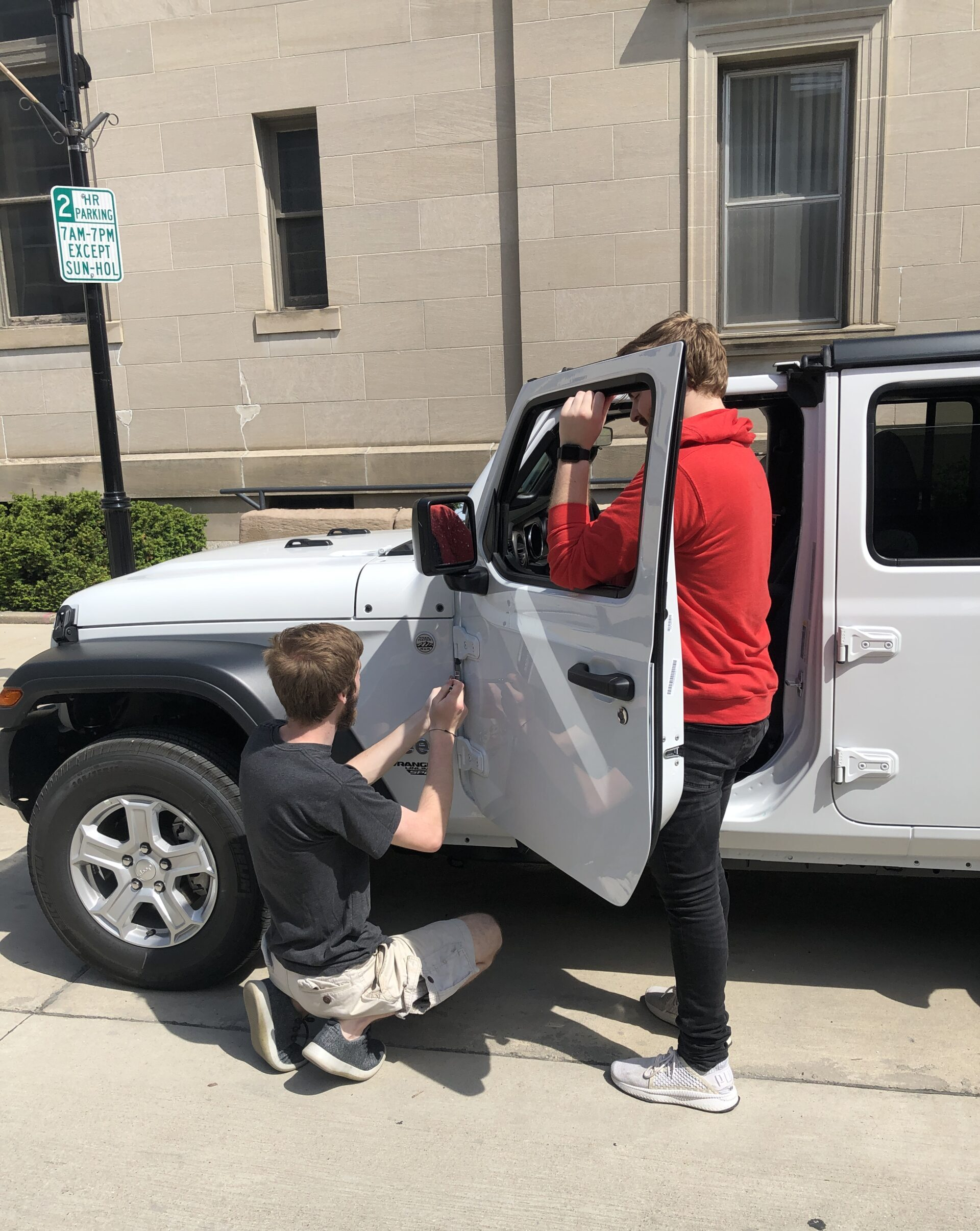 Taking doors off the jeep